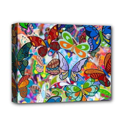 Color Butterfly Texture Deluxe Canvas 14  x 11