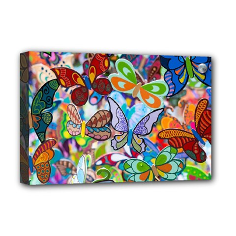 Color Butterfly Texture Deluxe Canvas 18  X 12