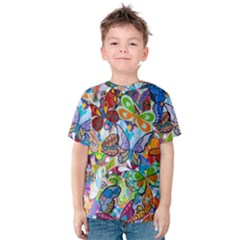 Color Butterfly Texture Kids  Cotton Tee