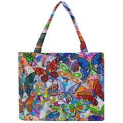 Color Butterfly Texture Mini Tote Bag