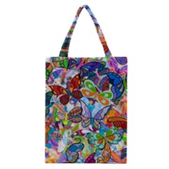 Color Butterfly Texture Classic Tote Bag
