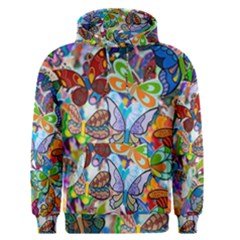 Color Butterfly Texture Men s Pullover Hoodie