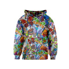 Color Butterfly Texture Kids  Pullover Hoodie
