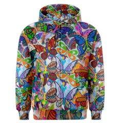 Color Butterfly Texture Men s Zipper Hoodie