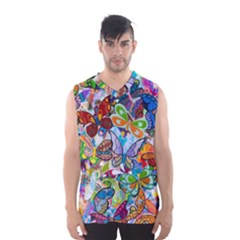 Color Butterfly Texture Men s Basketball Tank Top