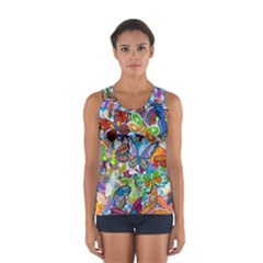 Color Butterfly Texture Women s Sport Tank Top