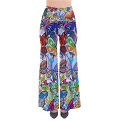 Color Butterfly Texture Pants