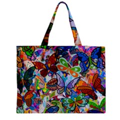 Color Butterfly Texture Medium Tote Bag