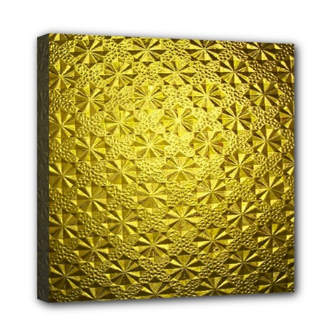 Patterns Gold Textures Mini Canvas 8  x 8