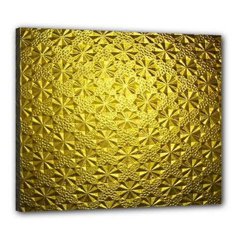 Patterns Gold Textures Canvas 24  X 20