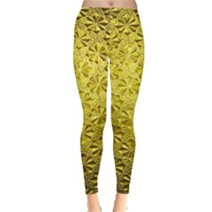 Patterns Gold Textures Leggings