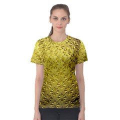 Patterns Gold Textures Women s Sport Mesh Tee