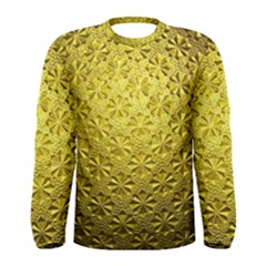 Patterns Gold Textures Men s Long Sleeve Tee