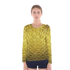 Patterns Gold Textures Women s Long Sleeve Tee