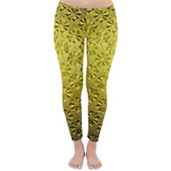 Patterns Gold Textures Classic Winter Leggings