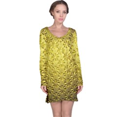Patterns Gold Textures Long Sleeve Nightdress