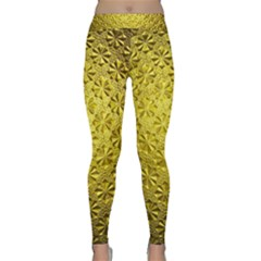Patterns Gold Textures Classic Yoga Leggings