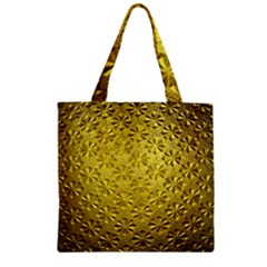 Patterns Gold Textures Zipper Grocery Tote Bag