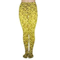 Patterns Gold Textures Women s Tights