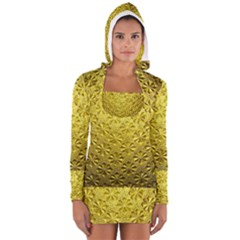 Patterns Gold Textures Women s Long Sleeve Hooded T-shirt