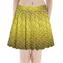 Patterns Gold Textures Pleated Mini Skirt