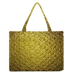Patterns Gold Textures Medium Zipper Tote Bag