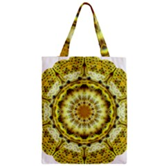 Fractal Flower Zipper Classic Tote Bag