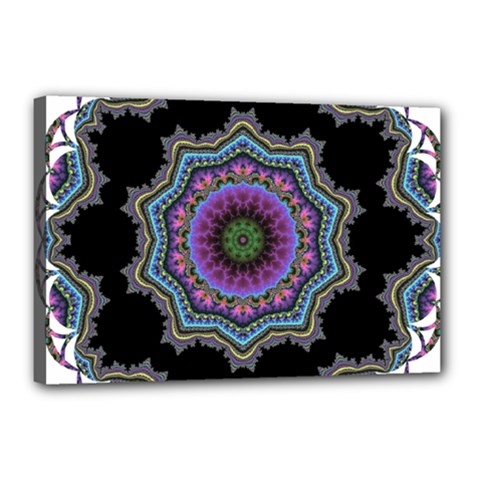 Fractal Lace Canvas 18  X 12