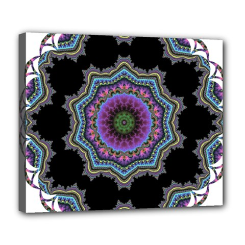 Fractal Lace Deluxe Canvas 24  x 20