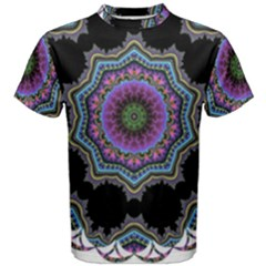 Fractal Lace Men s Cotton Tee