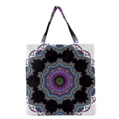 Fractal Lace Grocery Tote Bag