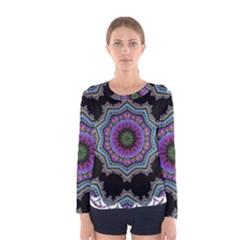 Fractal Lace Women s Long Sleeve Tee