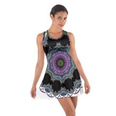 Fractal Lace Cotton Racerback Dress