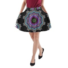 Fractal Lace A-Line Pocket Skirt