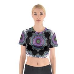 Fractal Lace Cotton Crop Top