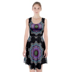 Fractal Lace Racerback Midi Dress
