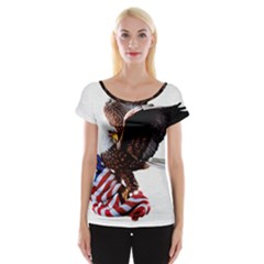 Independence Day United States Women s Cap Sleeve Top