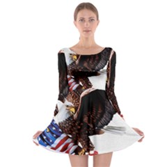 Independence Day United States Long Sleeve Skater Dress