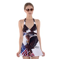 Independence Day United States Halter Swimsuit Dress