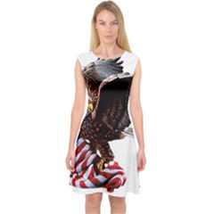 Independence Day United States Capsleeve Midi Dress