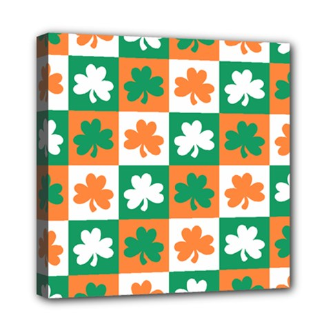 Ireland Leaf Vegetables Green Orange White Mini Canvas 8  x 8