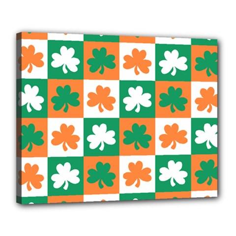 Ireland Leaf Vegetables Green Orange White Canvas 20  x 16