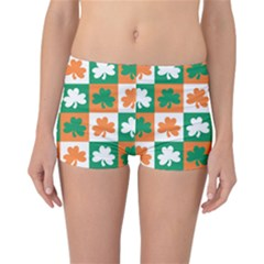 Ireland Leaf Vegetables Green Orange White Reversible Bikini Bottoms