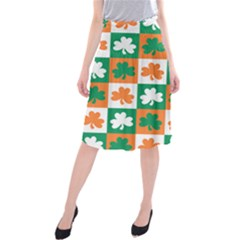 Ireland Leaf Vegetables Green Orange White Midi Beach Skirt
