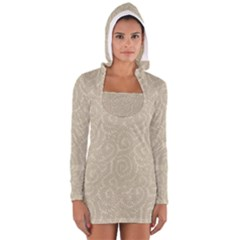 Leaf Grey Frame Women s Long Sleeve Hooded T-shirt