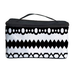 Love Heart Triangle Circle Black White Cosmetic Storage Case