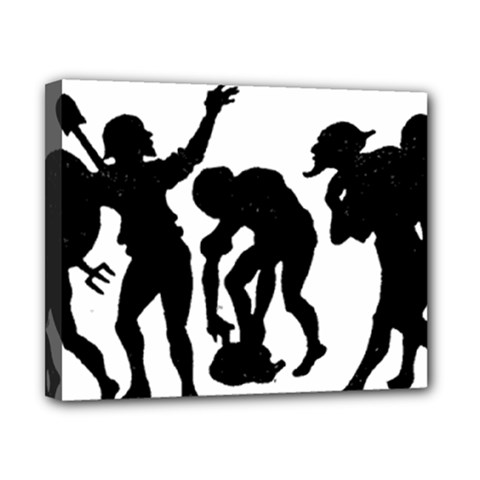 Seven Dwarfs Canvas 10  x 8