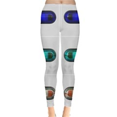 9 Power Button Leggings