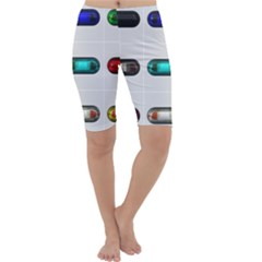 9 Power Button Cropped Leggings