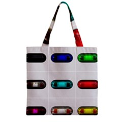 9 Power Button Zipper Grocery Tote Bag